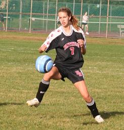 "Brianna Binowski, in action for her high school soccer team, says, ""The hardest part of a concussion is dealing with school."""