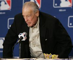Bill Lajoie, shown here in 2005, spent 57 years in pro baseball as a player, manager, general manager, scout or front-office staffer. Lajoie was GM of the 1984 Tigers that won the 1984 World Series.