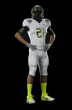 Oregon will wear the next generation of Nike Pro Combat uniforms and cleats when the Ducks face Auburn in the BCS national title game in Glendale, Ariz., on Jan. 10.
