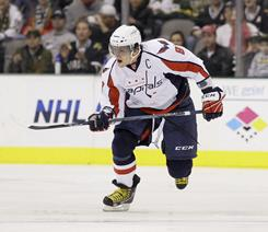 Capitals captain Alex Ovechkin led the NHL with 65 goals in 2007-08 and 56 in 2008-09, and has scored at least 46 in each of his first five seasons.