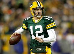 Aaron Rodgers and the Packers can clinch a playoff spot with a win on Sunday.