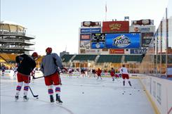 The Washington Capitals skate during the 2011 NHL Winter Classic Practice on Friday at Heinz Field in Pittsburgh.