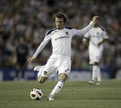 David Beckham, currently on loan from the MLS' Los Angeles Galaxy, could return to the English Premier League after a seven-year absence if Tottenham signs him.