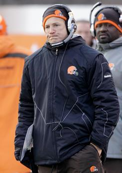 The Cleveland Browns dismissed coach Eric Mangini one day after his second consecutive 5-11 finish.