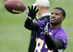 Minnesota Vikings wide receiver Bernard Berrian was listed as questionable for Sunday's game against the Detroit Lions.