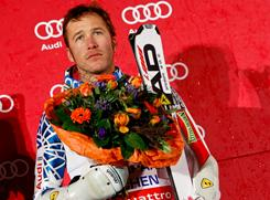 Bode Miller of the USA took third place during the Audi FIS Alpine Ski World Cup men's parallel slalom on Sunday in Munich.