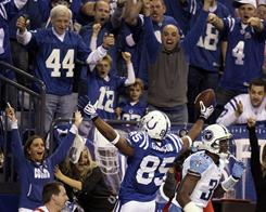 Pierre Garcon and the Colts clinched the AFC South on Sunday.