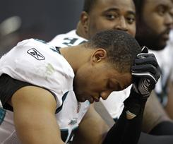 Aaron Morgan, left, and the Jaguars were eliminated from playoff contention on Sunday.