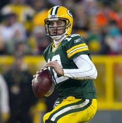 Aaron Rodgers and the Packers clinched a playoff berth on Sunday.