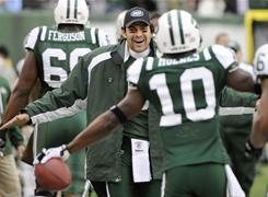 Mark Sanchez and the Jets will play a wild-card game next weekend.