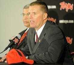 At his introductory press conference, new Maryland coach Randy Edsall call his new position his 'dream job.'
