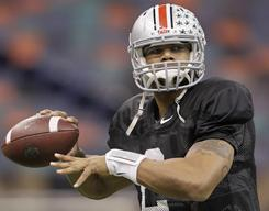 Ohio State quarterback Terrelle Pryor and four teammates are suspended for five games next season, and a sixth Buckeyes player will miss one game in 2011, for selling memorabilia.