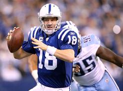 Peyton Manning and the Colts won the AFC South at 10-6.