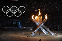 The Olympic flame is lit at the opening ceremonies of the 2010 Winter Games in Vancouver. NBC, which broadcast the Games in the U.S., reported losses of $223 million on the event.
