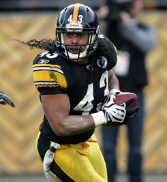 Steelers safety Troy Polamalu tied a career high with seven interceptions this season.