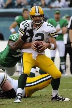 The Eagles held Packers quarterback Aaron Rodgers to a 73.1 passer rating during their regular-season meeting. They'll need a similar defensive effort in Sunday's playoff rematch (4:30 p.m., ET).
