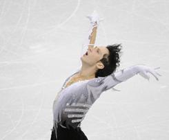 American Johnny Weir competes in the free skate at the Vancouver Olympics. 