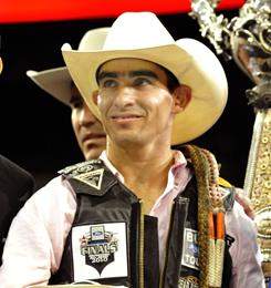 Renato Nunes was crowned champion of the Professional Bull Rider World Finals in Las Vegas in October. He's one of 40 riders competing this weekend in New York City.