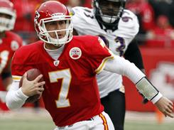 Matt Cassel and the Chiefs finished the season 10-7 after Sunday's loss.