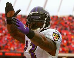 Willis McGahee and the Ravens won a wild-card game in Kansas City on Sunday.