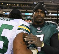 Michael Vick and the Eagles lost to the Packers on Sunday.