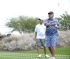 Hank Haney works with Rush Limbaugh on the third season of the Golf Channel's The Haney Project.
