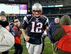 Tom Brady and the Patriots host the Jets on Sunday.