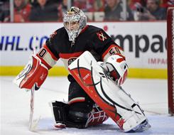 Corey Crawford, a 26-year-old rookie, earned his second consecutive shutout and the third of his career in the Blackhawks' 4-0 win over the Avalanche.