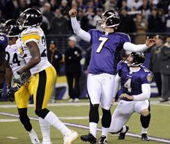 Billy Cundiff and the Ravens visit the Steelers for a playoff game on Saturday.