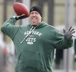Rex Ryan and the Jets visit New England for a playoff game on Sunday.