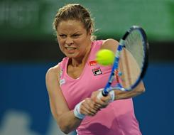 Kim Clijsters of Belgium, who lost Friday in the final of the Sydney International, enters the Australian Open as the No. 3 seed and the No. 1 favorite.