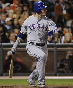 Rangers outfielder Josh Hamilton, who batted a major-league best .359 with 32 homers and 100 RBI en route to winning AL MVP, is eligible for free agency after the 2012 season.