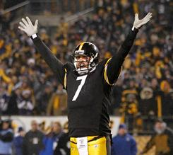 Ben Roethlisberger went 19-for-32 passing for 226 yards and two touchdowns.