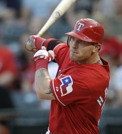 Despite missing most of the final month of the regular season, Josh Hamilton led the Rangers to the World Series and was voted the American League MVP.