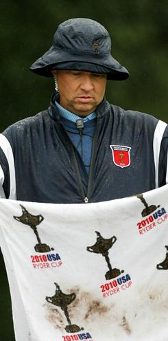 Davis Love III, shown here in the 2010 Ryder Cup where he was a Vice Captain, is expected to be named USA's Ryder Cup captain on Thursday in Chicago.