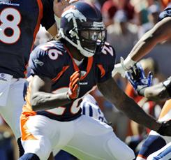Laurence Maroney played for the Broncos in 2010.