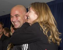 Andre Agassi will join wife Steffi Graf in the International Tennis Hall of Fame on July 9 in Newport, R.I. Agassi's induction was announced Thursday.