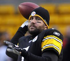 Ben Roethlisberger and the Steelers host the Jets on Sunday.