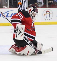 Martin Brodeur recorded his fourth shutout of the year and the 114th regular-season shutout of his career.