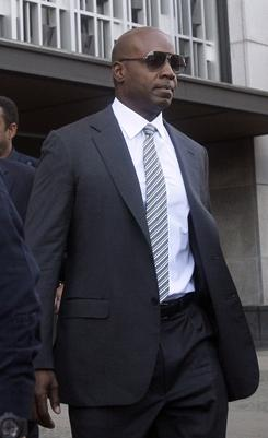 Barry Bonds appears at a federal courthouse in San Francisco on Friday for a hearing.