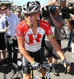 Lance Armstrong is competing at the Tour Down Under in Australia.