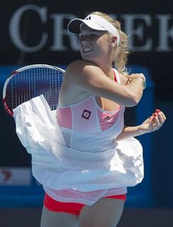 Caroline Wozniacki of Denmark is the youngest player left in the women's draw, 20, and the highest ranked, No. 1. She is still searching for her first Grand Slam title.