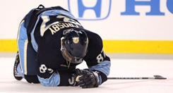 Sidney Crosby was hurt by an accidental hit to the head by Washington's David Steckel on Jan. 1 and has been out since a hit from behind by Tampa Bay's Victor Hedman on Jan. 5.