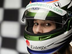 Simona De Silvestro was the top rookie at the Indianapolis 500 last year, and while she did have to wait, the driver managed to land a three-year sponsorship with Entergy to keep her ride.