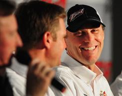 Between a solid Daytona International Speedway test and backyard go-kart racing, Kevin Harvick had plenty to smile about this week.