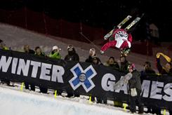 Sarah Burke competes at the 2009 Winter X Games in Aspen.