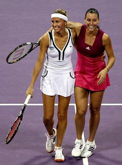 Gisela Dulko of Argentina and Flavia Pennetta of Italy are the top seeds at the Australian Open and the reigning WTA doubles team of the year. Much of their success comes because of their great chemistry on and off the court.