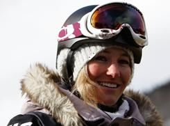 Gretchen Bleiler of the USA smiles after the women's finals of the US Snowboard Grand Prix on Dec. 12, 2009, in Copper Mountain, Colo.