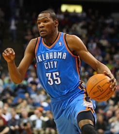 Kevin Durant set career highs with 47 points and 18 rebounds to help the Thunder overcome the Timberwolves in overtime.