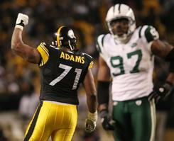 Flozell Adams earned a return trip to Dallas after helping the Steelers beat the Jets.